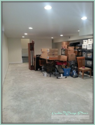 BEFORE - Unfinished Basement